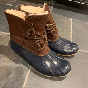 Jcrew x sperry collab duck boots size 8